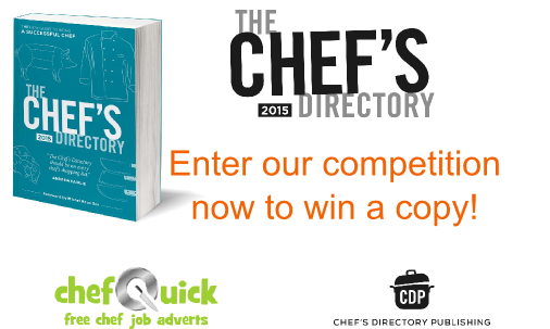 Win a copy of The Chefs Directory 2015 in our Competition